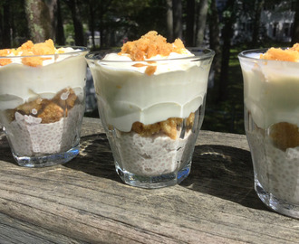 Mini Banana Pie Chia Pudding Parfait