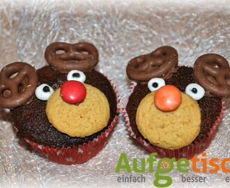 Rudolph the red nosed reindeer… Weihnachtsmuffins mal anders
