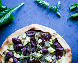 Veggie Packed Gallette Style Pizza