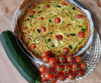 QUICHÉ DE VERDURAS CON QUESO AZUL. ( VEGETABLE QUICHÉ WHITH BLUE CHEESE)