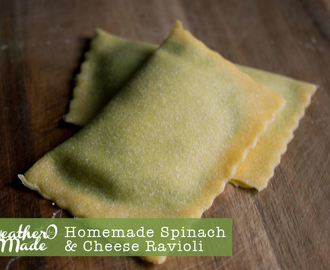 Homemade Spinach & Cheese Ravioli
