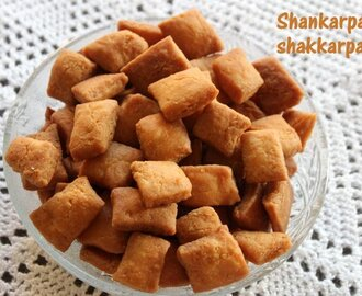 Shakkarpara or shankarpali recipe – How to make shakkarpara or shakkarpare recipe – Diwali recipes