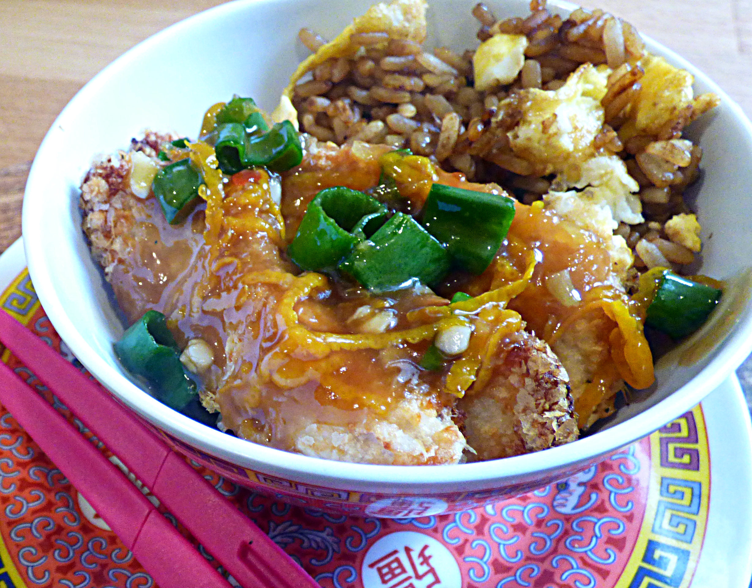 Slimming World Crispy Chinese Orange Chicken and Fried Rice