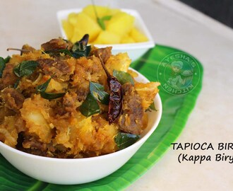 TAPIOCA RECIPES - TAPIOCA BIRYANI/KAPPA BIRYANI/TAPIOCA WITH MEAT