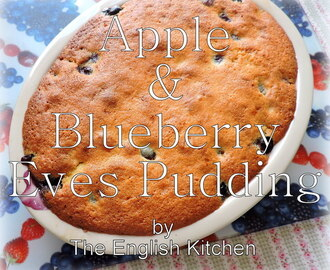 Apple & Blueberry Eve's Pudding