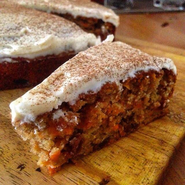 BOOZY CARROT AND SULTANA CAKE
