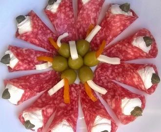ricette di come decorare il piatto di salumi di antipasto