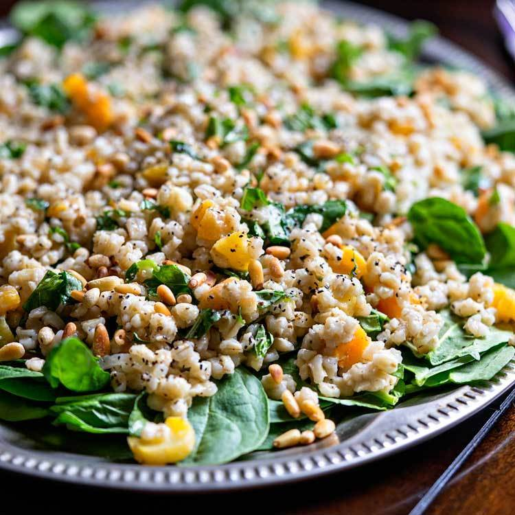 Barley Salad with Apricot and Pine Nuts