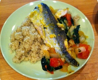 Fish with Quinoa.... an Energizing meal that somehow feels Satisfying