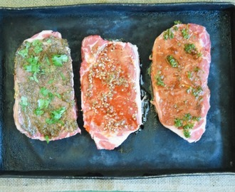 Globally Inspired Steak Recipes using Wet Rubs