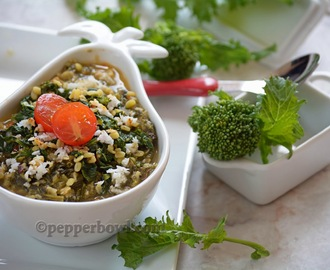 Broccoli Rabe Kootu: South Indian Version