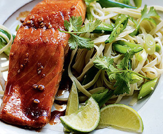 Teriyaki Salmon Noodles Recipe