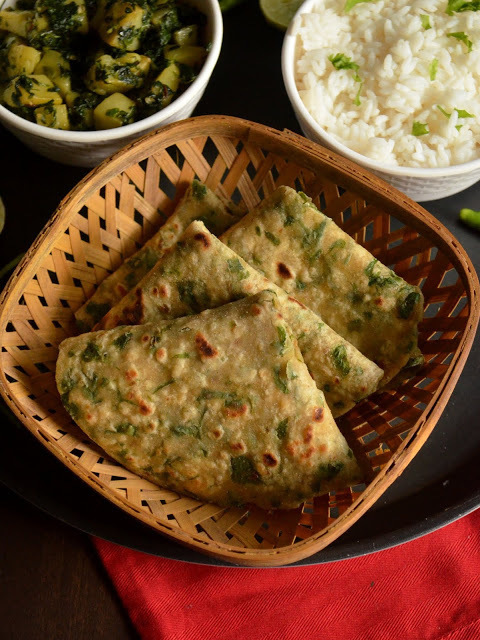 Methi Paratha | Methi Roti | Methi ka Paratha | Fenugreek Leaves Flat bread
