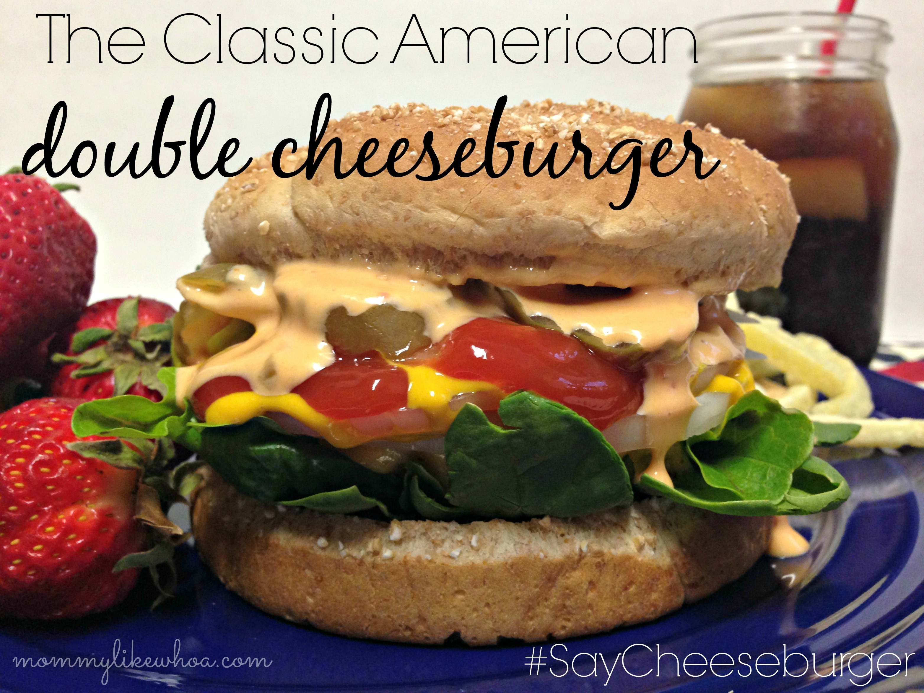 Two Classic American Cheeseburgers with Kraft Foods #SayCheeseburger