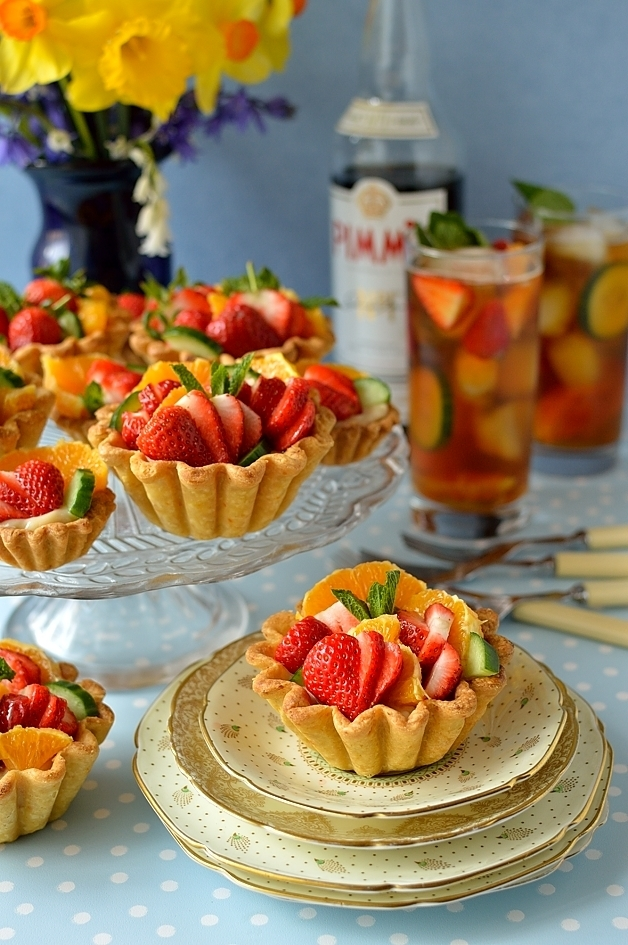 Pimm's Fruit Tarts
