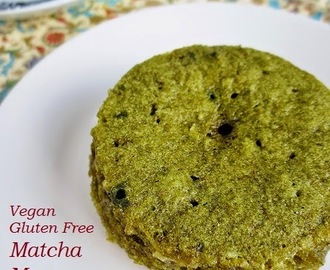 Vegan, Gluten Free Matcha Mug Cake (#Meatless Monday) & a Review of Kiss Me Organic's Match Green Tea Powder