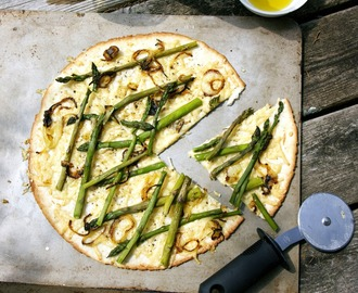 Asparagus Pizza Gluten-Free  #River Cottage VEG #Weekly Menu Plan