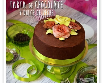 TARTA DE CHOCOLATE NEGRO Y DULCE DE LECHE / DARK CHOCOLATE AND DULCE DE LECHE LAYER CAKE