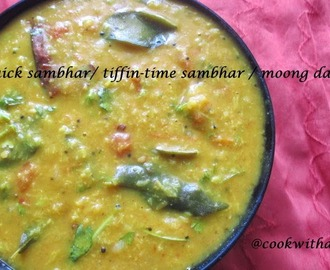 Tiffin sambhar / Moong dal sambhar