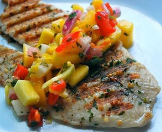 FILETE DE PESCADO CON MANGO