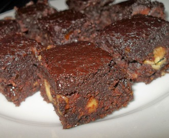 Vegane, rohe Brownies