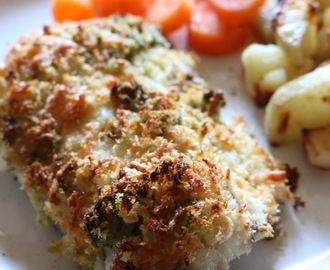 Pesto fish bake