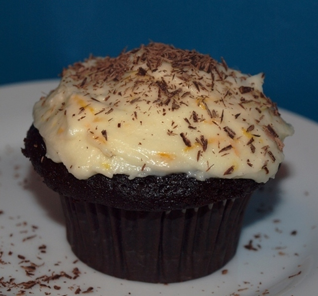 Decadent Chocolate Cupcakes with Orange Cream Cheese Frosting