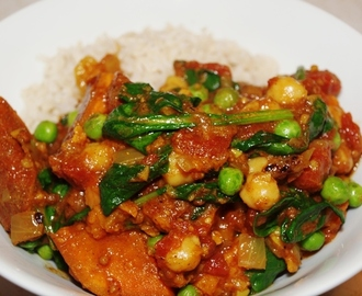 Sweet Potato and Two Pea Curry