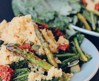 Superfood Salad: Quinoa, Kale and Asparagus