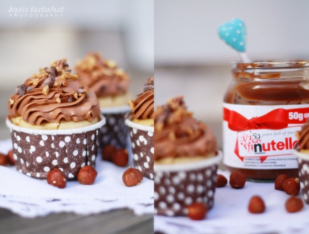 Nutella-Peanutbutter Cupcakes