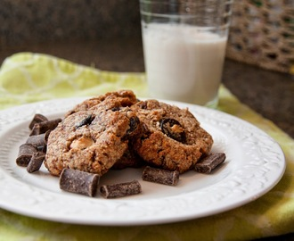 Chocolate Chunk Cherry Almond Cookies - Sugar Egg Gluten Dairy Free!