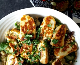 Halloumi and quinoa salad recipe