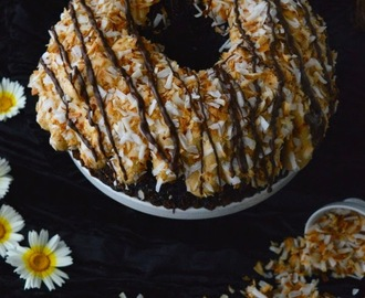 Marbled Samoa Bundt Cake #BundtBakers