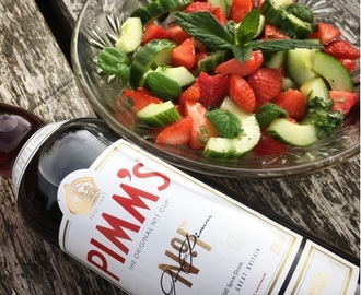 Strawberry, Cucumber and Mint Salad with a Pimm's Dressing