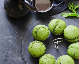 Eggless Spinach Muffins| Green Muffins