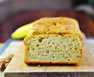 Banana quinoa bread with flaxseed