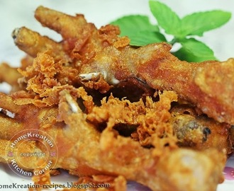 Crispy Fried Chicken Feet (Kaki Ayam Goreng Rangup)