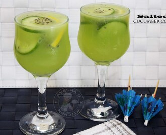 CUCUMBER DRINK RECIPES - SALTED CUCUMBER LIME COOLER