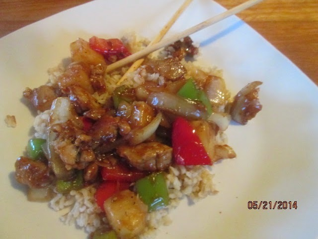 Sweet & Sour Pork  . . . as good as take out without the breading and deep fat frying!