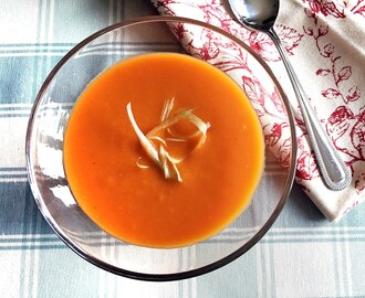 Soup Maker Recipe:  Cream of Sweet Potato and Tomato Soup