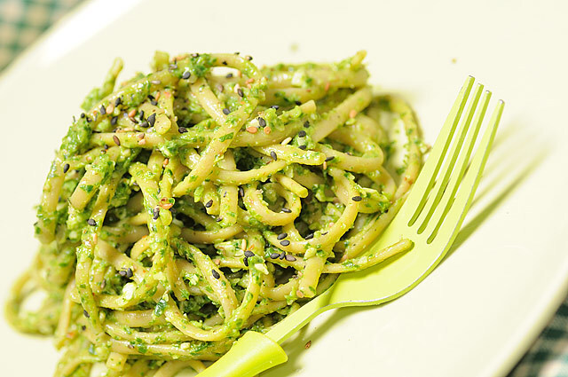 Linguine e pesto di strigoli