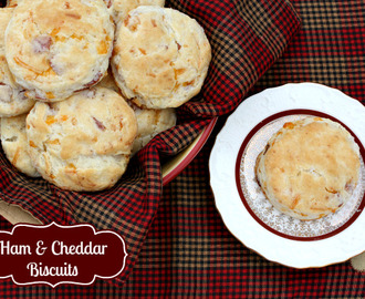 Ham & Cheddar Buttermilk Biscuits #SavetheBiscuit