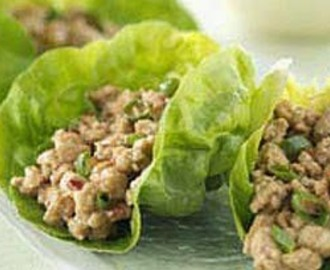 Turkey Lettuce Wraps (Paleo, Low Carb, Low Fat, Healthy)