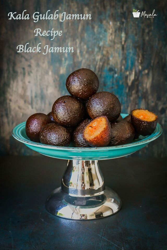 Kala Gulab Jamun Recipe – Black Gulab Jamun | Stuffed Kala Jamun | Easy Kala Jamun Recipe | Black Gulab Jamun Recipe | How to make Kala Gulab Jamun