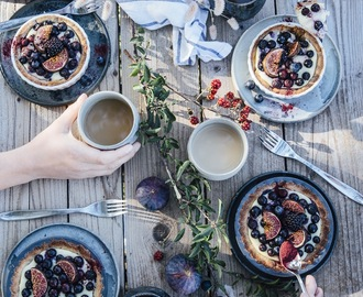 gluten-free mini tarts with vanilla pudding, blueberries and figs & a week of vacation in denmark