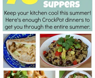 78 Slow Cooker Summer Suppers--Enough summer crockpot recipes to get you through the entire summer!