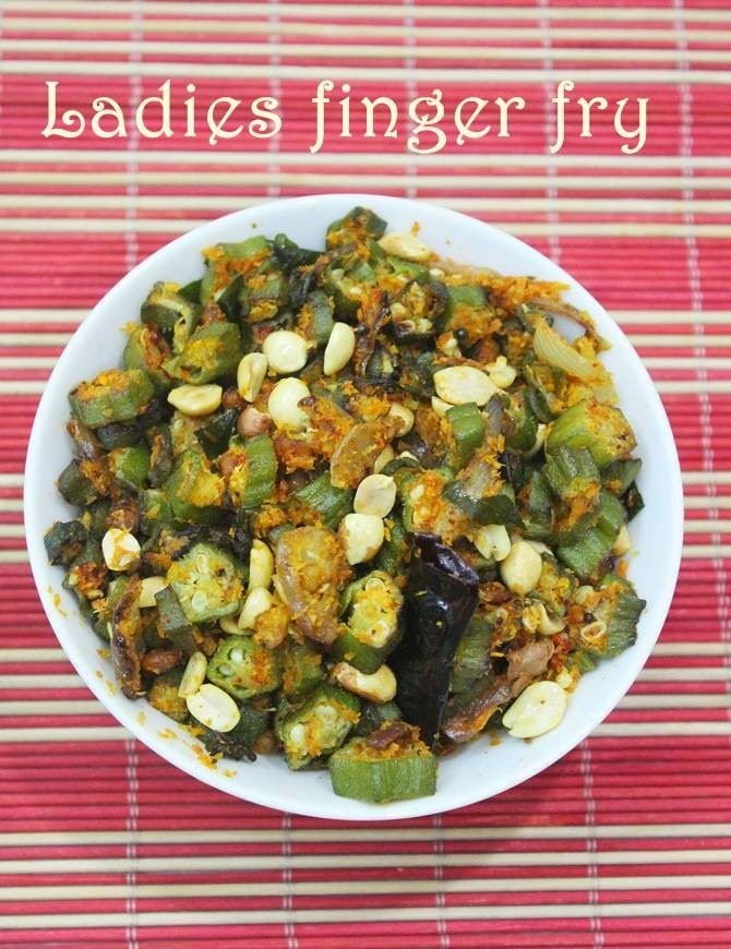 Bendakaya palli vepudu – ladies finger stir fry