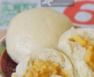 Cream Corn Custard Bao / Cream Corn Custard Steam Buns