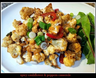 Spicy Cauliflower & Peppers Casserole