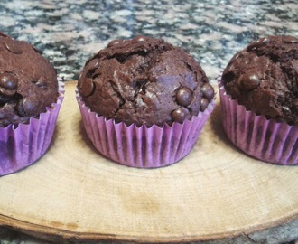 MUFFINS DE CHOCOLATE CON CHIPS